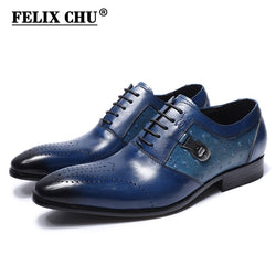 FELIX CHU Italian Designer Genuine Leather Mens