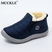 MCCKLE Snow Boots Women Shoes Warm Plush Fur Ankle Boots
