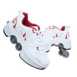 Walk+Skates Deform Wheel Skates for Adult Men Women