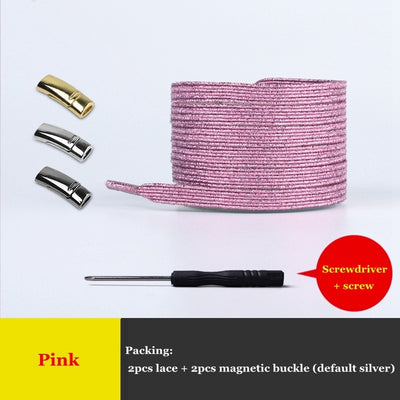 New Magnetic ShoeLaces Elastic Locking ShoeLace Special Creative No Tie