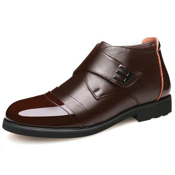 Chelsea Boots Genuine Leather Warm Men Shoes