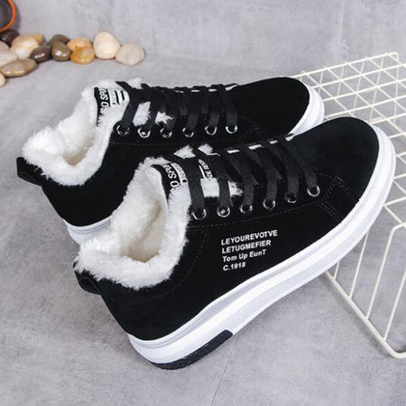 COVOYYAR 2019 Winter Women Shoes with Warm Fur