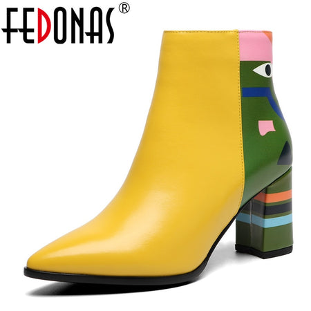 FEDONAS Fashion Brand Women Ankle Boots
