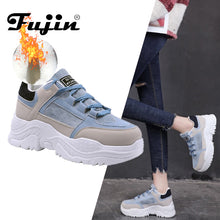 FUJIN Winter Sneakers Plush Fur Warm
