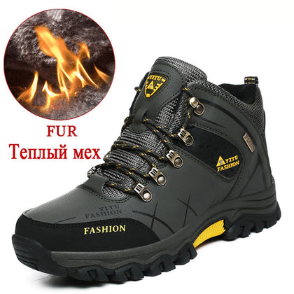 Brand Men Winter Snow Boots Warm Super Men High Quality Waterproof Leather Sneakers