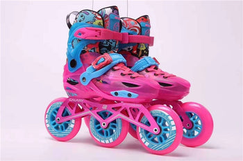 Premium Children 3 Wheels Inline Speed Skates Shoes