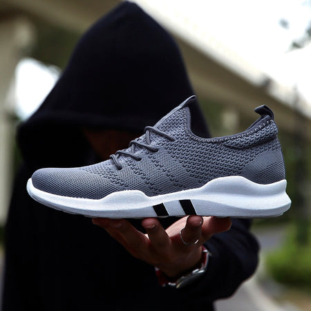 Men Running Shoes Outdoor Black White Sneakers