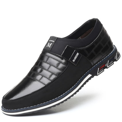ZUNYU Leather Men Casual Shoes Brand