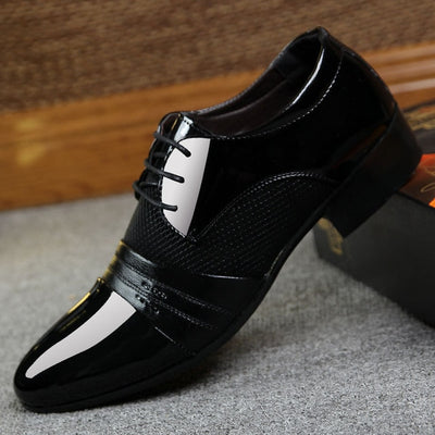 Big size china brand classic male Dress Footwear Brown black White