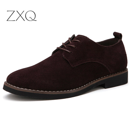 Plus Size 38-48 Oxford Men Shoes PU Suede Leather Male Dress Shoes