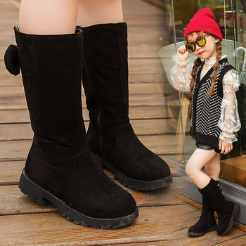 Knee High Bow Children Girl Winter Shoes Snow Boots
