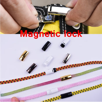 4pcs/pair Shoelace Buckle Metal Shoelaces Magnetic buckle Accessories