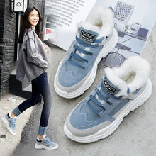Warm Platform Woman Snow Sneakers