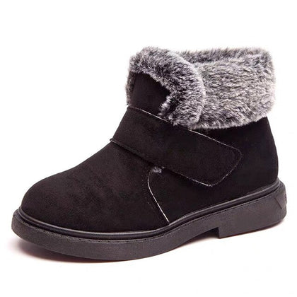 Girls Boys Ankle Boots Suede Unisex Boots Winter Anti Slip Snow Shoes