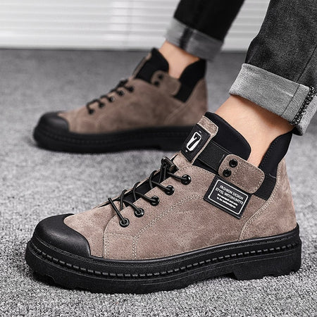 Fashion Winter Men's Boots PULeather Male Waterproof Shoes