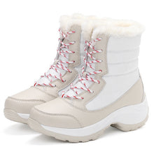 Women Snow boots Waterproof Non-slip Winter Boots Warm Shoes Plus Size 31-42