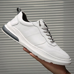 2020 New Genuine Leather Shoes Men Sneakers Men Fashion White Shoes