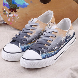 Girl Breathable Vulcanized Shoes Cartoon Air Mesh Sneakers