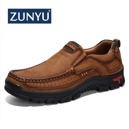 ZUNYU New Genuine Leather Loafers Men Moccasin Sneakers