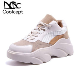 Coolcept Chunky Sneakers Women with Thick Bottom Platform