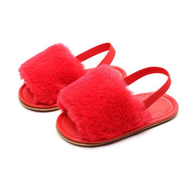 New born Baby Shoes Summer Fashion Faux Fur Cute Infant Baby for 0-18M