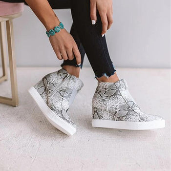 2020 Women's Wedge Sneaker Vulcanize Shoes