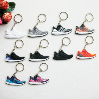 Mini Silicone Ultra Boost Keychain Bag Charm Woman Men Kids Key Ring