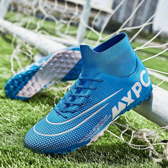 MWY Men Soccer Shoes High Top Football Boots Sneakers Training Shoes