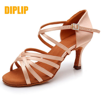 DIPLIP New Hot Latin Dance Shoes Women's High Heel Dance Shoes