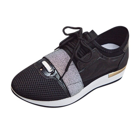 Spring Women Shoes Summer Women  Stitching Low-Top Sneakers