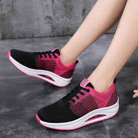 Women Sports Running Shoes Breathable Woman Pink Sneakers