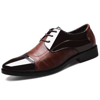 MULUHU Spring Autumn Men Shoes Leather Business Oxford Leather Shoes