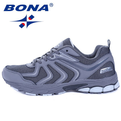 BONA New Arrival Hot Style Men Running Shoes Lace Up Sneakers