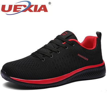 UEXIA Shoes for Men Summer Mesh Men Sneakers Lace Up Shoes
