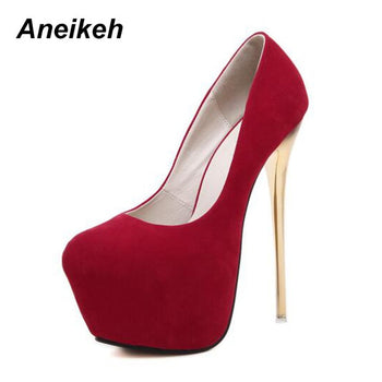 Aneikeh Big Size 41 42 43 44 45 Sexy Pumps Wedding Women Fetish Shoes