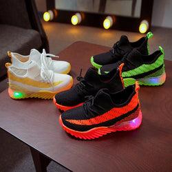 LED Light Up Shoes Children Kid Baby Girls Boys Candy Color Sport Run Sneakers