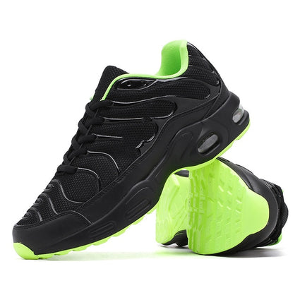 Air Cushion Mesh Breathable Men Running Shoes Army Sneakers