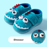 Boys Autumn Winter Slippers Girls Cute Cartoon Dinosaur