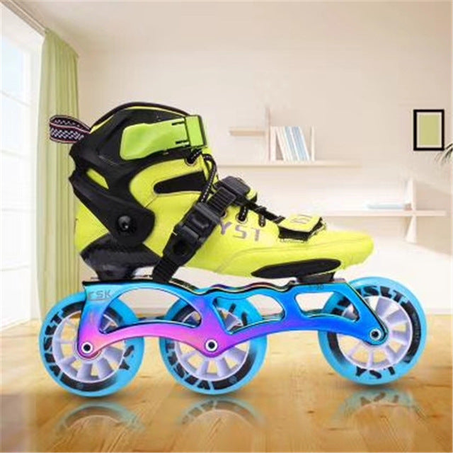 4X90mm Children Kids inline speed skates patines sneaker 4 wheels boy girl