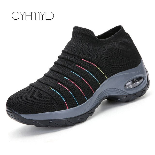 Platform Sneakers women Breathable Air Running shoes Chunky Sneakers