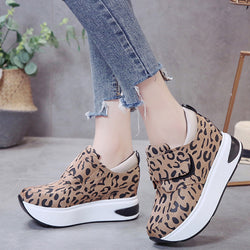 Women Fashion Casual Shoes Outdoor Slip-On Thick Platform Sport Sneakers