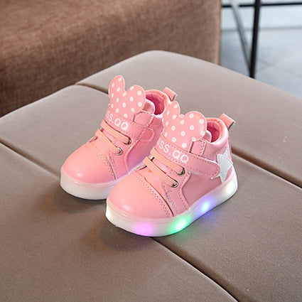 Korean Style Fashion Luminous Sneakers Casual Children Shoes