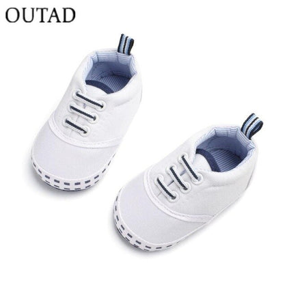 OUTAD Baby Canvas Shoes Soft Bottom Leisure Sneakers Newborn Boys Girls