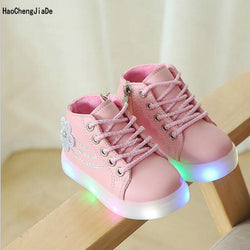 New Autumn Kids Shoes luminous Toddler Boys Glowing Sneakers