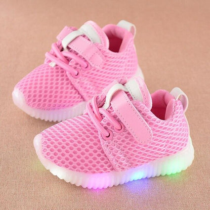 Daclay Kids Led Sports Running Shoes Mesh Sneakers Luminous shoes for 1-6 years kids