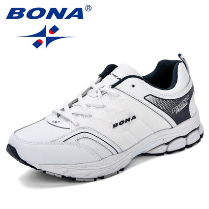 BONA Men Casual Shoes Microfiber Man Flats Lace Up Breathable Sneakers