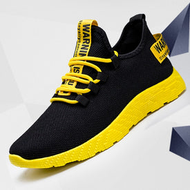 Men Vulcanize Shoes Yellow and Black Sneakers