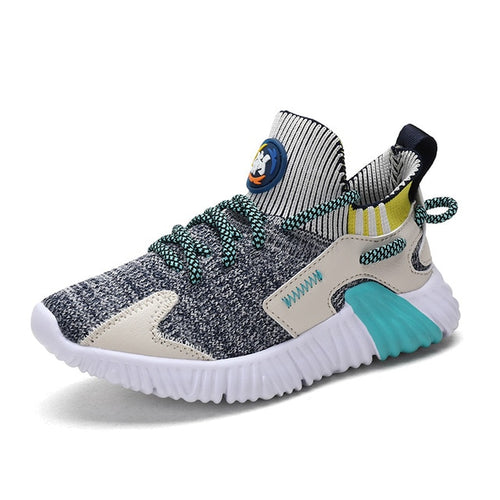 Kids Light Shoes Boys And Girls Casual Mesh Flying Textile Sneakers