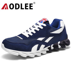 AODLEE Men Casual Shoes Light Men Running Shoes Plus Size Sneakers