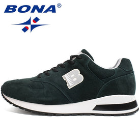 BONA Suede Sneakers Men Outdoor Anti-skid Casual Shoes for Men